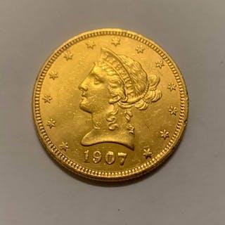 USA - 10Dollar 1907 Liberty Head - Gold
