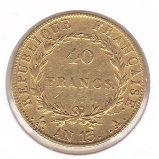 France - 40 francs AN13 - A - Gold