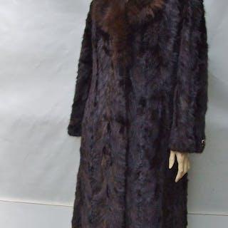 European - Cappotto in pelliccia di visone / volpe - Taglia: M