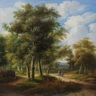 J. M. Jansen(1811 - 1887) - Romantisch landschap