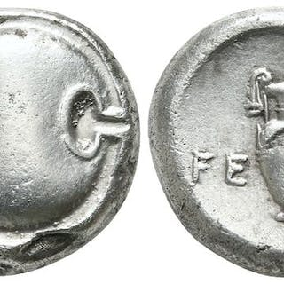 Greece (ancient) - Stater Boeotia. Tebes 363-338 BC - Silver