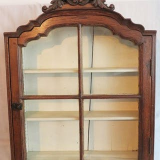 Wall display case - Glass, Oak - 18th century