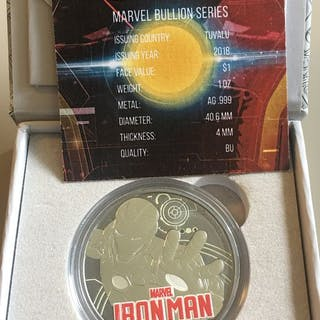 Tuvalu - 1 Dollar 2017 - IRON MAN III- Multi Metal Plated Coin - 1 Oz - Silber