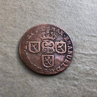 Pays-Bas espagnols - 1 liard/oord 1712 Maximilien Emmanuel de Bavière - Namur