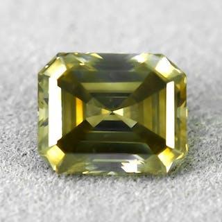 Diamant - 1.80 ct - Smaragd - Natural Fancy Grayish Greenish Brown - Si1 - VG/VG