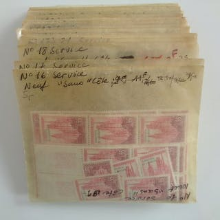 Frankreich 1958/1986 - Merchant stock of official stamps...