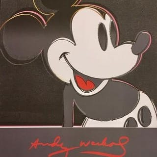 Andy Warhol - Mickey Mouse - Galerie Kammer 1982