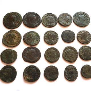 Römisches Reich - Lot comprising 20 Late Roman AE coins, 3rd-4th century