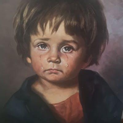 J Bragolin Enfant Qui Pleure Barnebys