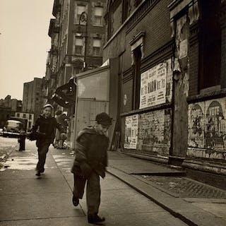 """Kick the Can,"" Ridge St., Lower East Side - Rebecca Lepkoff"