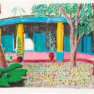 Hotel Acatlán: Second Day, from the 'Moving Focus' Series - David Hockney