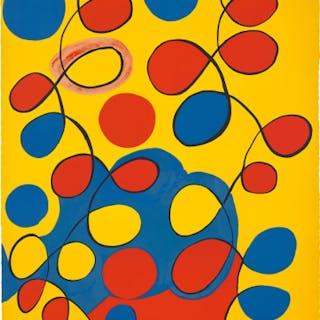 Untitled (Loops on Yellow) - Alexander Calder