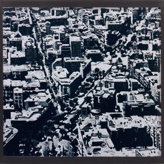 Townscape Madrid, after Gerhard Richter, from Pictures of Pigment - Vik Muniz