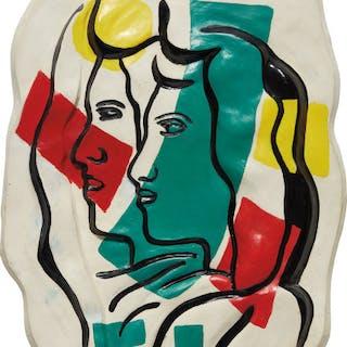 Les deux profils couleurs en dehors - Fernand Léger