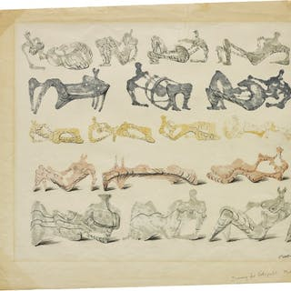 Seventeen Reclining Figures - Henry Moore