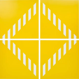 PVC giallo − Quatre éléments. travail situé - Daniel Buren