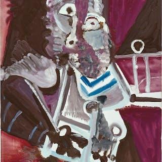 Homme assis (Mardi gras) - Pablo Picasso