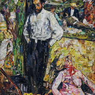 Man and Puppet, after Edgar Degas - Vik Muniz