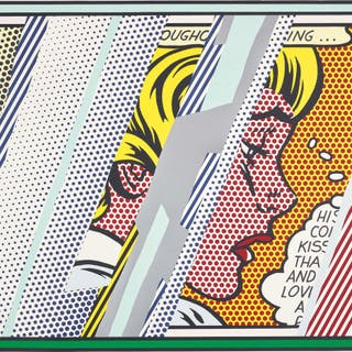 Reflections on Girl, from Reflections Series - Roy Lichtenstein