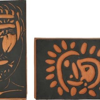 Visage d'homme (Man's Face); and Petite soleil (Little Sun) - Pablo Picasso