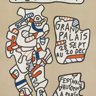 Affiche (Poster); and Texte de terre (Earth Text) - Jean Dubuffet