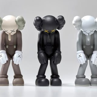 Small Lie (Brown); Small Lie (Black); and Small Lie (Grey) - KAWS