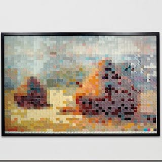 Haystack 2 after Monet from Pictures of Color - Vik Muniz
