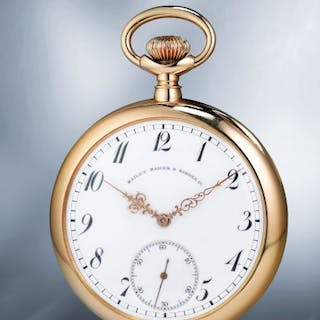 A large, attractive and well-preserved yellow gold openface watch