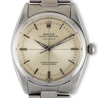 Rolex. A very attractive and unusual Rolex Tru-Beat reference 6556