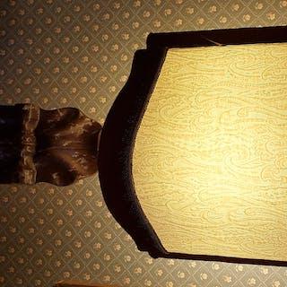 Scultura in marmo montata a lampada h cm 30 Epoca 1700
