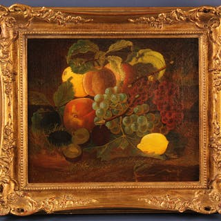 Signed J Francis, Still Life of Fruit, Oil on Canvas