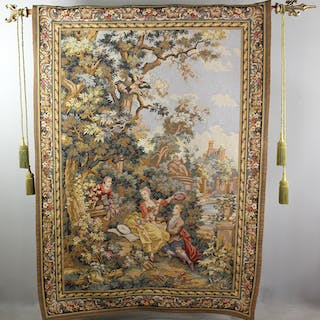 Point Genre Gobelins French Tapestry