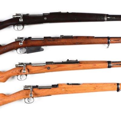 C) Lot of 4: Military Bolt Action Rifles  | Barnebys