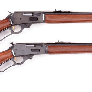 Lot consists of: (A) One of the best lever action rifles ever made