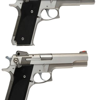 Lot consists of: (A) Smith & Wesson Model 645 semi-automatic