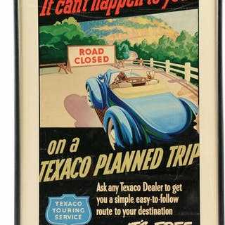 Matted & Framed Poster for Texaco Gasoline & Motor Oil