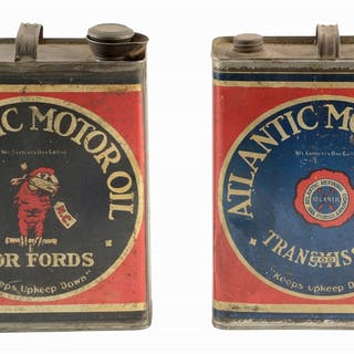 Lot Consists Of: Atlantic Motor Oil For Fords One Gallon...