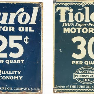 Lot Consists Of: Purol Motor Oil Tin Sign