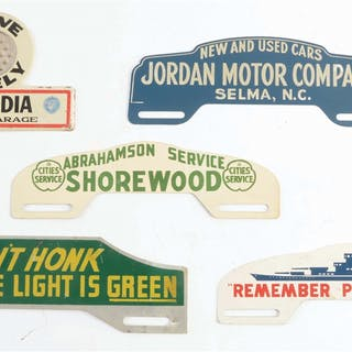 Lot Consists Of: Jordan Motor Company Tin Plate Topper