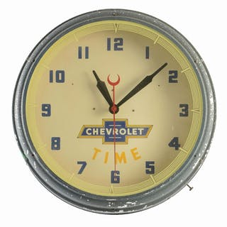 Chevrolet Neon Dealership Clock made by Lackner