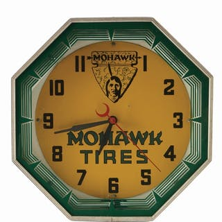 An excellent example of this Neon Clock for Mohawk Tires