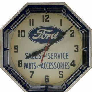 An excellent example of this neon clock for Ford Sales & Service