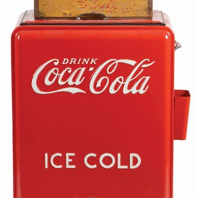 Westinghouse Coca Cola Cooler shows a very nice restoration