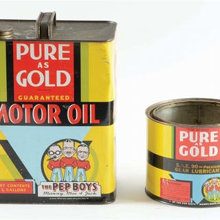 Lot Consists Of: Pep Boys Pure As Gold Two Gallon Can