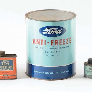 Lot Consists Of: Ten cans from Ford Motor Company