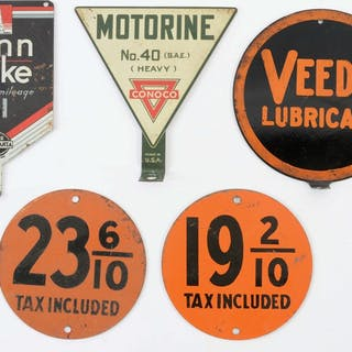 Lot consists of: Veedol Lubricant Tin Lubster Paddle