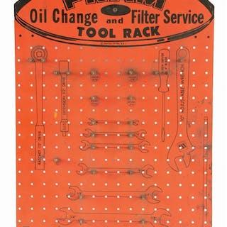 Single Sided Masonite Sign for Fram Oil Filter Service