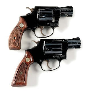 Lot consists of: (A) Early post-war Smith & Wesson...