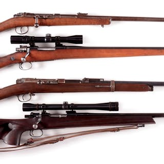 Lot consists of:(A) Mauser Model 71 with matching numbers on barrel