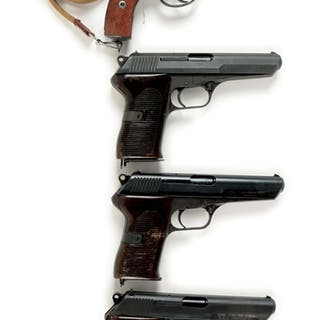 Lot consists of: (A) Nagant revolver with six shot
